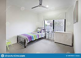 Bed Designs In White Color Classic Bed Room With Wooden Table Stock Image Image Of
