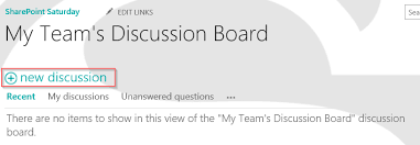 Day 77 Creating Discussion Boards In Sharepoint Tracy Van Der Schyff