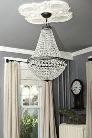 pottery barn stacked crystal chandelier black floor lamp adele