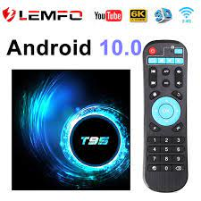 TV Box Android 10 4G 64GB 6K Smart TV Box YouTube Android TV Box 2G 16G  Media Player Quad Core 1080P H.265 WiFi 2.4G T95 LEMFO|Set-top Boxes