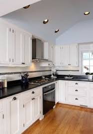 kitchen design white cabinets black appliances. White Cabinets \u0026 Black Appliances Kitchen Design Ideas, Pictures, Remodel And Decor