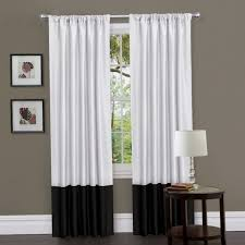 Perfect Black And White Curtains Interesting Decoration In Decor