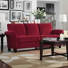 red velvet sofa. Porch \u0026amp; Den Highland Kalamath Red Velvet Sofa