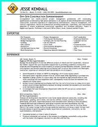 Construction Manager Resume Sample Cool Construction Project Manager