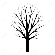 Template Tree Tree Black Silhouette Free Tree Template On White Background
