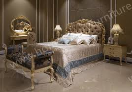 Bed neo classical bedroom sets antique Bedroom furniture Kingbed