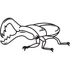 動物 虫クワガタモノクロ 無料イラストpowerpoint