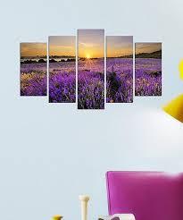 lavender sunset five panel wall art set on lavender sunset wall art with wallity lavender sunset five panel wall art set zulily