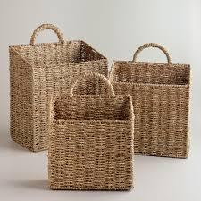 Wall Hanging Storage Baskets rachael wall baskets | world market