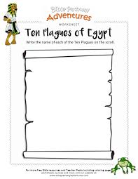 Bible Worksheet Activity: Ten Plagues of Egypt | Free Download