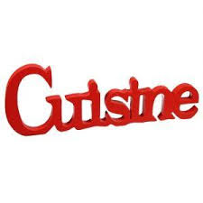 Plaque Pour Porte De Cuisine Bois Peint Rouge Achat Vente
