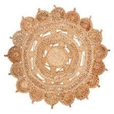mimosa hand braided jute round rug 150cm
