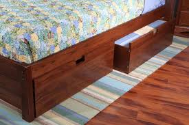 oak rolling under bed storage drawers