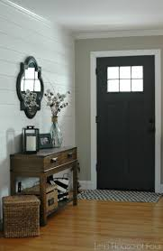 skinny entryway table. Entryway With A Small Irregular Mirror Hung Above Table Skinny