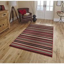 diamond 220a red striped rug by think rugs