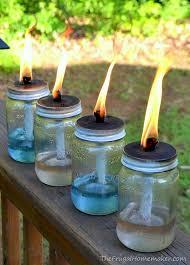 diy outdoor lighting mason jar tiki torches wall the frugal homemaker