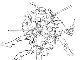 Collection Of Ninja Turtles Eating Pizza Coloring Pages Download
