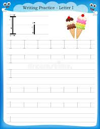 Writing practice letter I stock vector. Image of child - 50726494