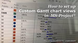 Live Gantt Chart How To Set Up Custom Gantt Chart Views In Ms Project
