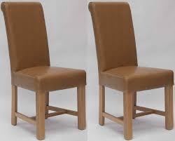 homestyle gb louisa bycast leather dining chair tan pair