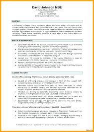 Cv Template Personal Profile Example Curriculum Vitae Examples