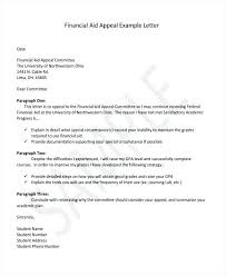 financial aid appeal letter financial aid reinstatement appeal  financial aid appeal letter awesome special circumstances financial aid letter example how financial aid appeal letter