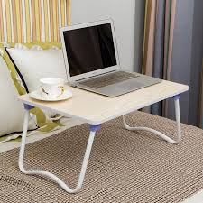foldable laptop wood table notebook large bed desk 40x60cm monitor pc computer