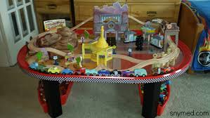 review disney cars radiator springs race track set table by kidkraft for costco you
