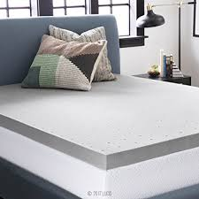 memory foam bed topper. LUCID 3 Inch Bamboo Charcoal Memory Foam Mattress Topper - Queen Memory Foam Bed Topper