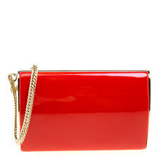 red patent leather carmen chain wristlet clutch nextprev prevnext
