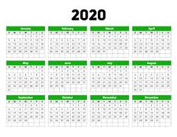 Plain Calendar 2020 Calendar 2020 Calendar Options