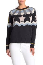 360 Cashmere Size Chart Inga Star Pattern Cashmere Sweater