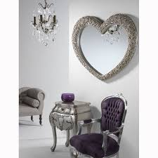 large rose frame heart wall mirror in champagne silver 110cm x 92cm exclusive mirrors