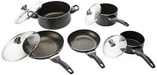 Farberware 21806 Dishwasher Safe Nonstick Cookware Pots And Pans Set 15 Piece Black