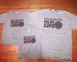 Nerf gun tshirt set from my Etsy shop https://www.etsy.com/listing ...