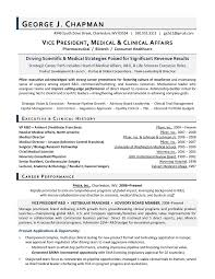 Vp Medical Affairs Sample Resume Executive Resume Writer For R D