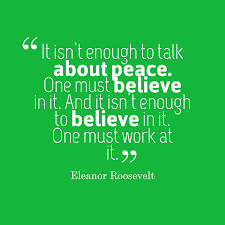 Eleanor Roosevelt Quote About Peace