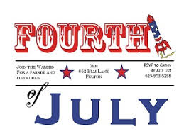 4th Of July Party And Patriotic Invitations For New