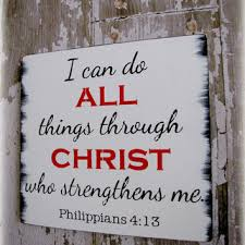 typography wall decor all things through christ philippians 4