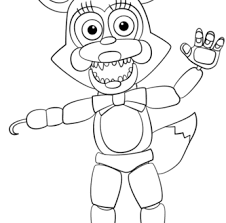 Mangle Coloring Pages Aspiration Fnaf 001 19 Five Nights At Freddy S