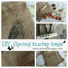 Diy Spring burlap bags - Debbiedoo's