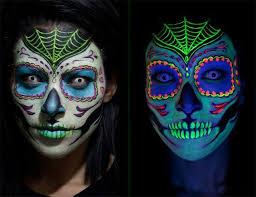sugar skull makeup types