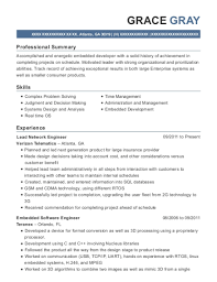 Verizon Telematics Lead Network Engineer Resume Sample Atlanta