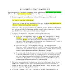 What should a good contract template include? Independent Contractor Contract Template Awb Firm