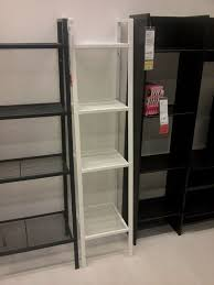 ikea lerberg shelf unit white 35cm metal shelving free standing