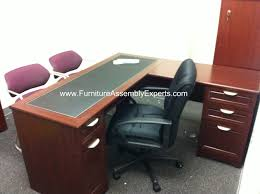 assembled office desks. Realspace Magellan L Shaped Desk Assembled In Washington DC By Furniture Assembly Experts Company Office Desks