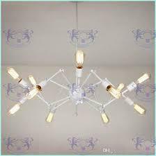 lovely spider chandelier vintage wrought iron pendant lamp loft american for spider chandelier