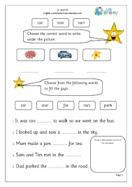 Phonics worksheets and online activities. Ar Words Letters And Sounds By Urbrainy Com
