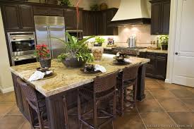 Simple Dark Kitchen Cabinets Colors Traditional Woodwalnut Intended Inspiration Decorating