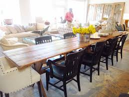 Furniture:Classic Pine Wood Narrow Dining Tables With Thin On Diningroom  Plus White Legs Painted
